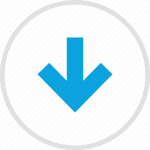 arrow, data, down, graphics, info icon