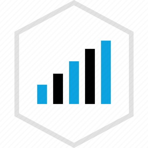 bars, data, graphics, info, up icon