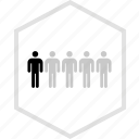 data, five, graphics, info, persons icon