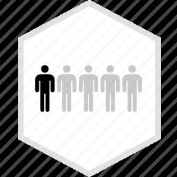 data, five, graphics, info, persons icon