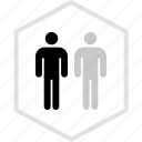 data, graphics, info, two, users icon