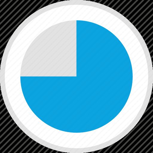 data, graphics, info, pie, radius icon