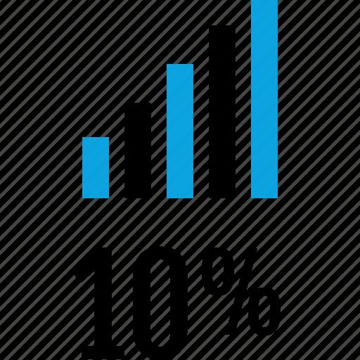 data, graphics, info, percent, ten icon