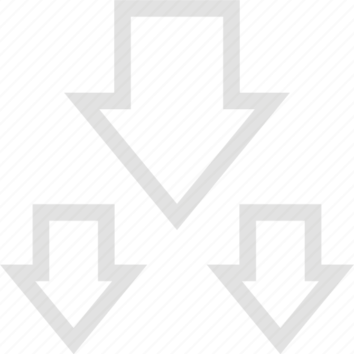arrows, data, down, graphics, info, three icon