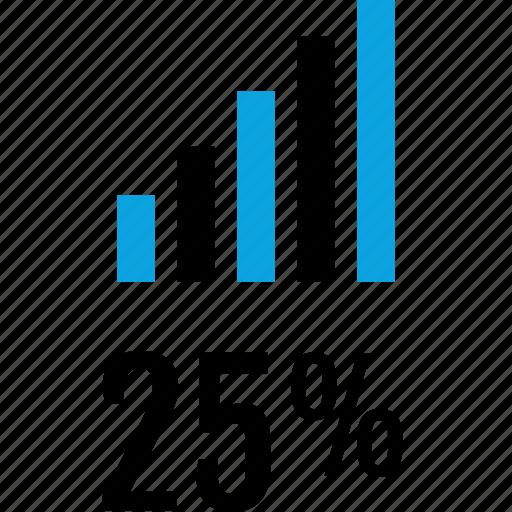 data, five, graphics, info, percent, twenty icon