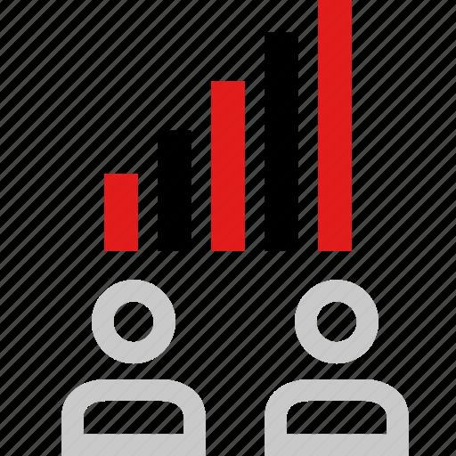 boss, data, graphic, info, user icon