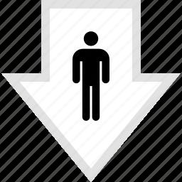 data, down, graphic, info, user icon