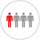 data, four, graphic, info, people icon
