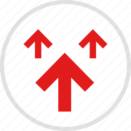 arrows, data, graphic, info, up icon