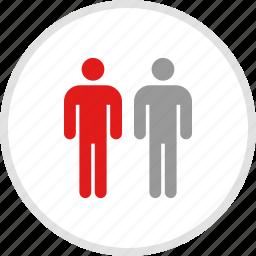 data, graphic, info, person, two icon