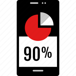 data, graphic, info, ninety, phone icon