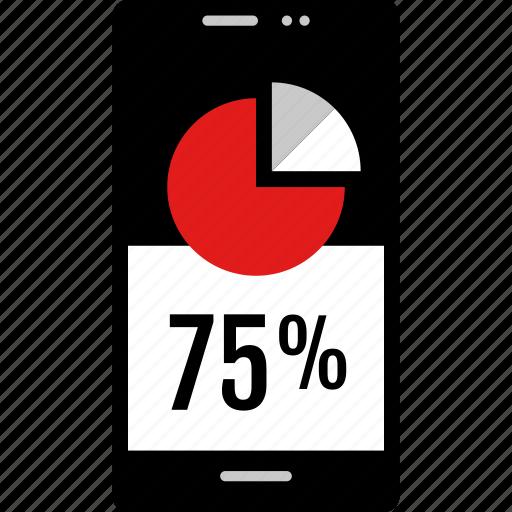 data, graphic, info, phone, seventyfive icon