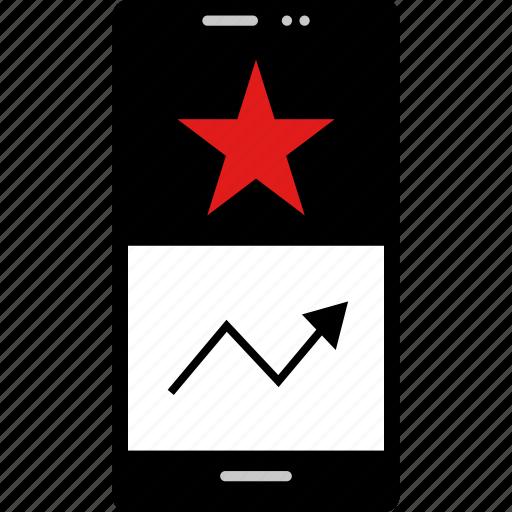 data, graphic, info, seo, star icon