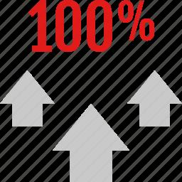 arrows, data, graphic, info, three icon