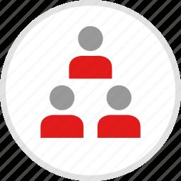 data, graphic, info, people, three icon