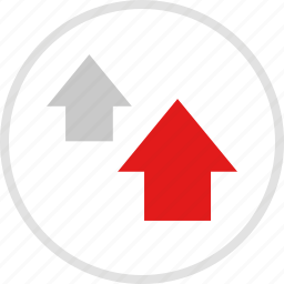 arrows, data, graphic, info, two, up icon