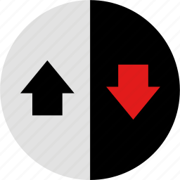data, down, graphic, info, up icon