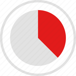chart, data, graphic, info, quarters, three icon