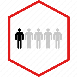 data, five, graphic, info, users icon