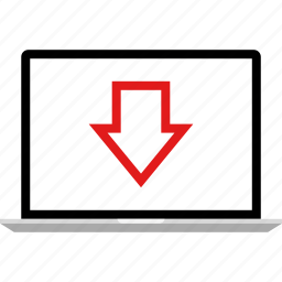 data, down, graphic, info, laptop icon