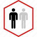 data, graphic, info, person, two icon