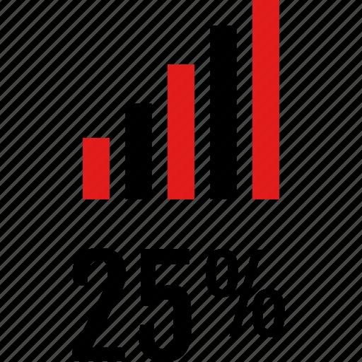 bars, data, five, graphic, info, twenty icon