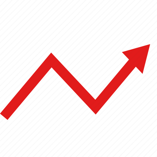 arrow, data, graphic, info, seo, up icon