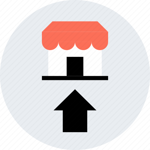arrow, store, up, upload icon