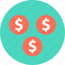 currency, dollar, dollars icon