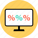 money, percent, percentage, rate icon