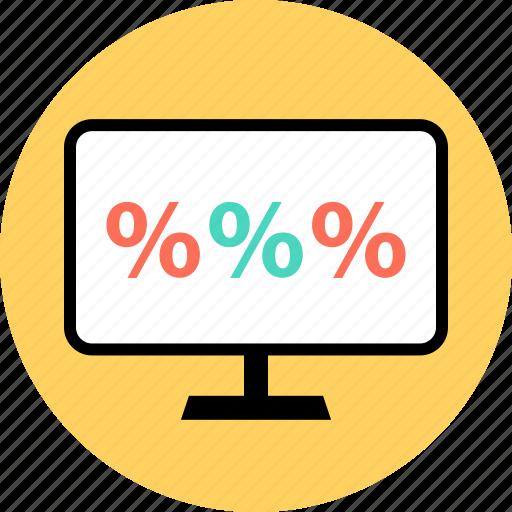 money, percent, percentage, rate icon