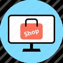 pc, phone, shop icon