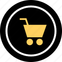 add, cart, go, shopping icon
