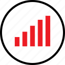 bars, data, graph, infographic, information, seo, up icon