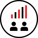bars, data, infographic, information, seo, up icon