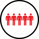 data, five, infographic, information, person, seo, users icon