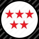 data, five, infographic, information, seo, stars icon