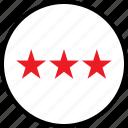 data, infographic, information, rate, seo, stars, three icon