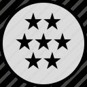 data, infographic, information, seo, seven, stars icon