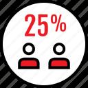 data, five, infographic, information, person, seo, twenty icon
