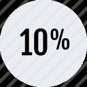 interest, percent, rate, revenue, ten icon