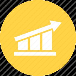 bar chart, bar growth, business graph, business growth, grap, growth chart icon