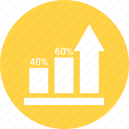 bar chart, bar graph, business graph, business growth icon
