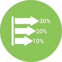 bar chart, bar graph, business graph, business graph growth icon