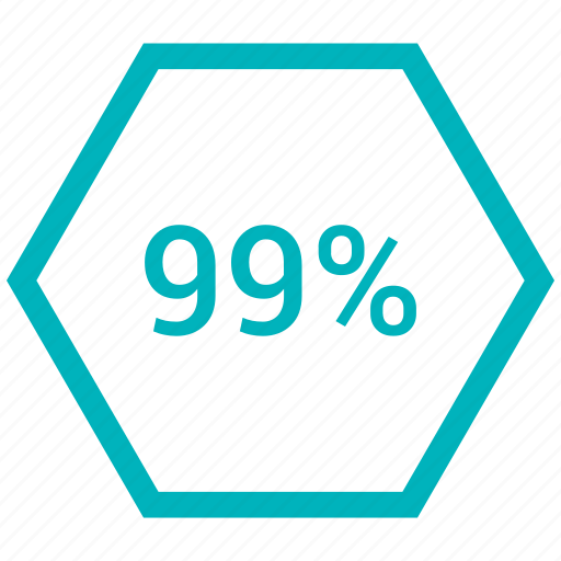 ninty nine, percent, rate, revenue icon