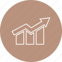 bar, chart, down, growth icon