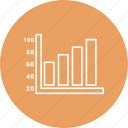 bar, business, chart, graph, infographic icon