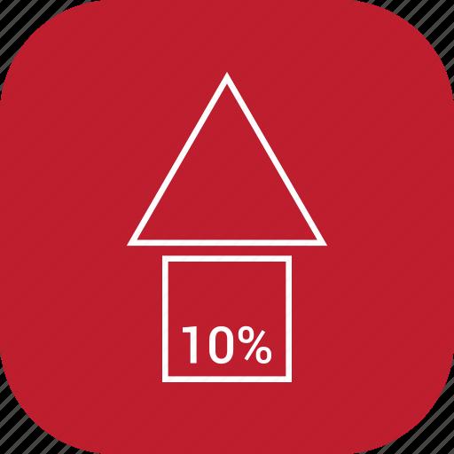 arrow, direction, orientation, ten, up icon