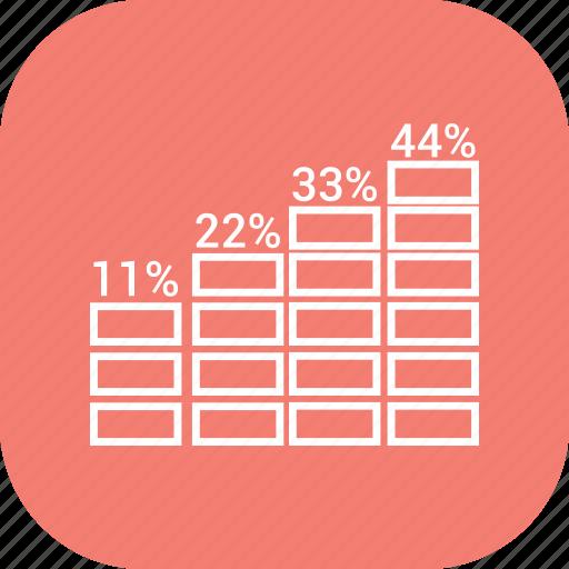 bar chart, bar graph, business growth, graph icon