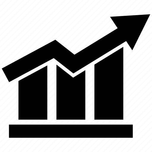 business graph, business growth, graph icon